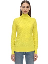 Sportmax Miele Cashmere Knit Sweater Yellow