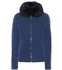 Hunter Faux Fur Down Coat Blue