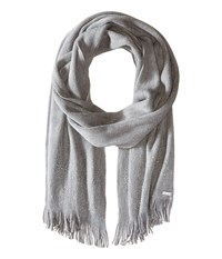 Calvin Klein Scarf Studded Heathered Mid Grey Scarves Blue