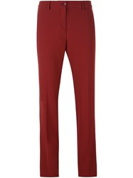 Etro Slim Chino Trousers Red