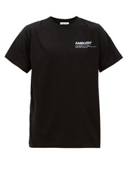 Ambush Logo Print Cotton T Shirt Black