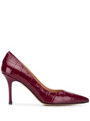 The Seller Pointed Croc Effect Pumps 60