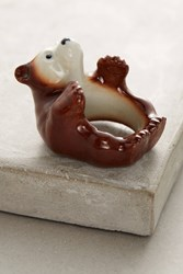 Anthropologie Bear Portrait Ring Brown