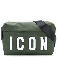 Dsquared2 Icon Embroidered Belt Bag Green