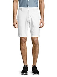 Slate And Stone Madison Solid Cotton Blend Shorts White