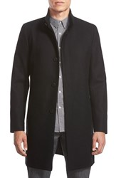 Men's Theory 'Belvin' Wool Blend Car Coat Black