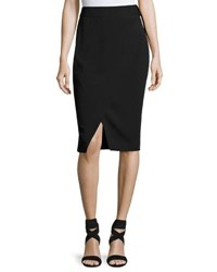 Laundry By Shelli Segal D Ring Faux Wrap Skirt Black