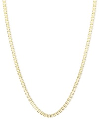 Macy's 14K Gold Necklace 30' Hollow Box Chain
