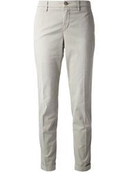 Fay Cropped Trousers Nude And Neutrals