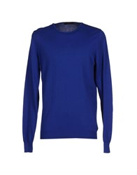 Vneck Knitwear Jumpers Men Bright Blue