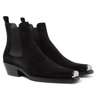 Calvin Klein 205W39nyc Chris Metal Toe Cap Nubuck Boots Black