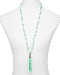 Sequin Color Karma Tassel Necklace 30 Mint