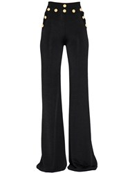 Balmain High Waist Flared Knit Pants
