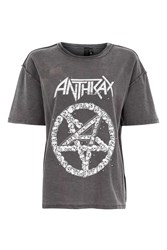 And Finally Anthrax Studded T Shirt By Black