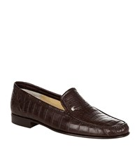 Stefano Ricci Crocodile Loafer Male Brown