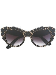 Dolce And Gabbana Floral Sunglasses Black
