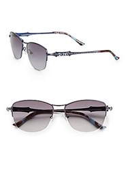 Judith Leiber 54Mm Rounded Square Sunglasses Sapphire