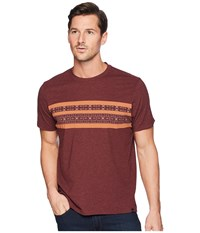 Prana Garrity Short Sleeve Crew Black Cherry T Shirt Burgundy