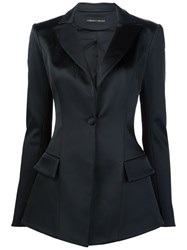 Christian Siriano Fitted Blazer Black