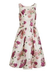 Chi Chi London Digital Floral Print Midi Dress White