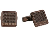 Ted Baker Braidy Chocolate Cuff Links Brown