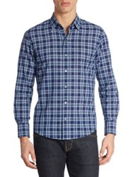 Zachary Prell Leventhal Cotton Shirt Pacific