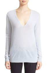 Women's Theory 'Adrianna' V Neck Cashmere Pullover Classic Blue