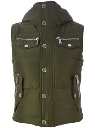 Dsquared2 Padded Gilet Green