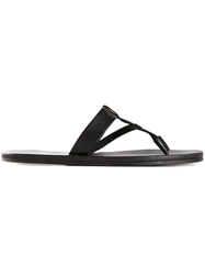 Lanvin Toe Strap Sandals Black
