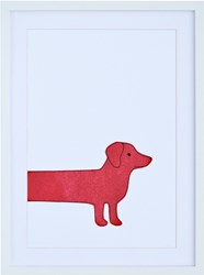 K Studio Red Dog Wall Art