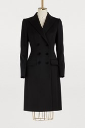 Dolce And Gabbana Wool Cashmere Coat Black