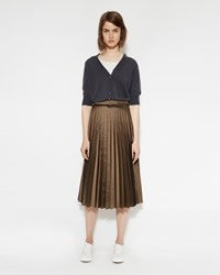 Margaret Howell Sunray Pleat Skirt Bronze