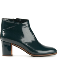 L'autre Chose Mid Chunky Heel Booties Green