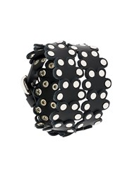 Red Valentino Studded Floral Bracelet Black