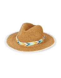 Echo Panama Crochet Hat Natural White