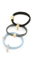 Marc By Marc Jacobs Embellished Wingnut Coil Cluster Ponies Mystic Blue