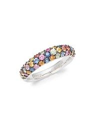 Effy Rainbow Sapphire Pink Sapphire Orange Sapphire And Sterling Silver Ring