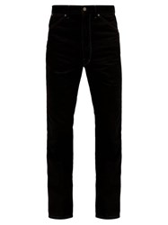 Christophe Lemaire Bootcut Pressed Crease Denim Trousers Black