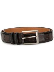 Magnanni Brushed Effect Belt Brown
