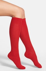 Women's Nordstrom 'Luxury' Knee High Socks Red