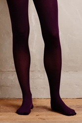 Anthropologie Pure Good Opaque Tights Dark Purple L Xl Socks
