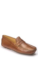 Sandro Moscoloni Men's Reno Driving Shoe Tan Cognac Leather