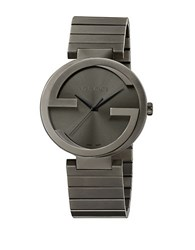 Gucci Mens Interlocking Gs Pvd Watch Gunmetal