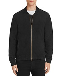 Joe's Jeans Kevin Faux Suede Bomber Jacket Black