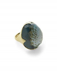 Ippolita Faceted London Blue Topaz King Ring