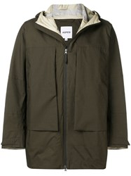 Aspesi Hooded Windbreaker Green