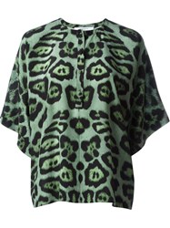 Givenchy Leopard Print Top Green
