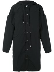 Telfar Hooded Parka Men Nylon S Black