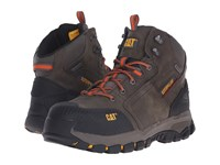 Caterpillar Navigator Mid Wp St Dark Gull Grey Men's Work Boots Gray