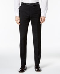 Ben Sherman Men's Slim Fit Black Solid Suit Pants